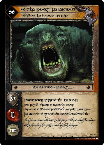 Cave Troll of Moria, Scourge of the Black Pit