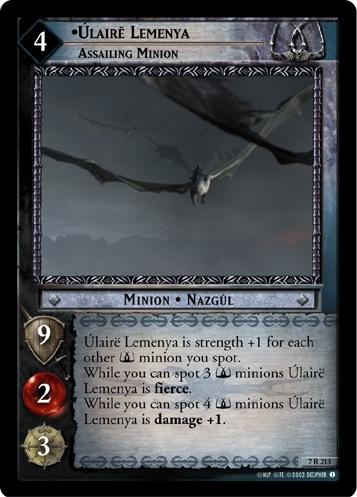 Úlairë Lemenya, Assailing Minion