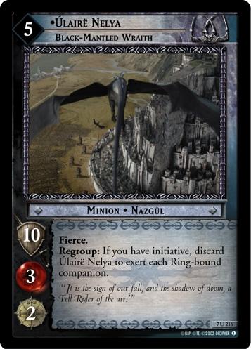 Úlairë Nelya, Black-Mantled Wraith