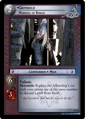 Grimbold, Marshal of Rohan