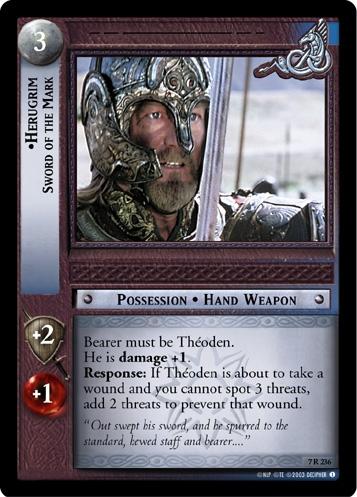 Herugrim, Sword of the Mark