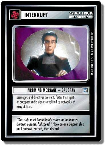 Incoming Message - Bajoran