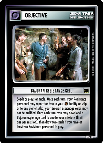 Bajoran Resistance Cell (first version)