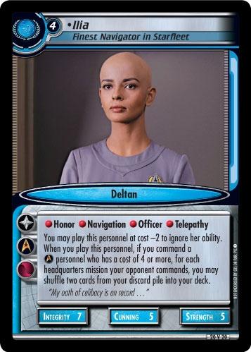 Ilia, Finest Navigator in Starfleet (first version)