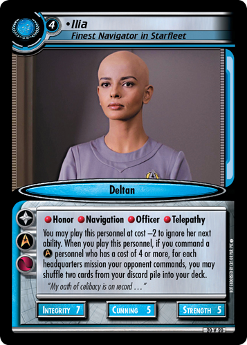 Ilia, Finest Navigator in Starfleet