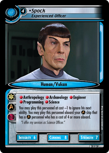 Spock, Experienced Officer