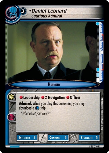 Daniel Leonard, Cautious Admiral