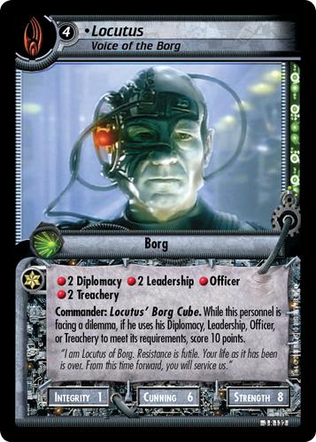 Locutus, Voice of the Borg