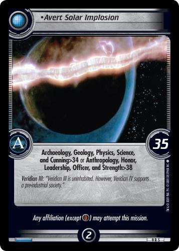 Avert Solar Implosion (first version)