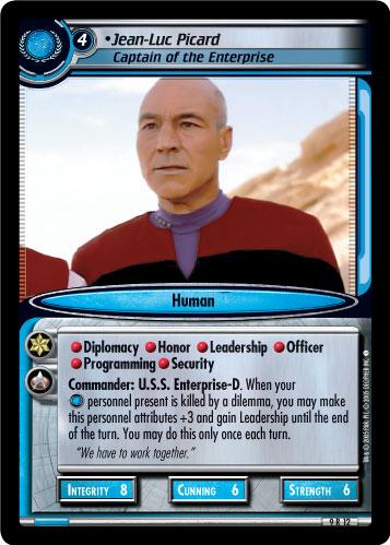 Jean-Luc Picard, Captain of the Enterprise