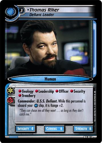 Thomas Riker, Defiant Leader