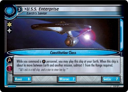 U.S.S. Enterprise, Earth's Savior