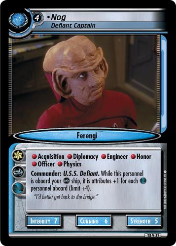 Nog, Defiant Captain