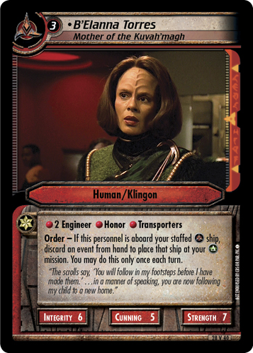 B'Elanna Torres, Mother of the Kuvah'magh