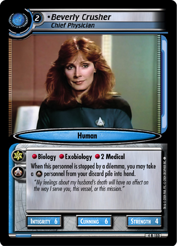 Beverly Crusher, Chief Physician