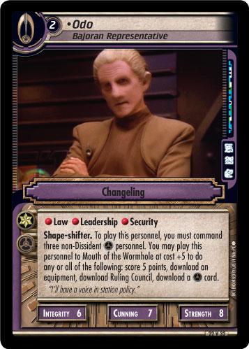 Odo, Bajoran Representative