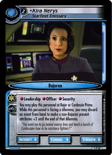 Kira Nerys, Starfleet Emissary