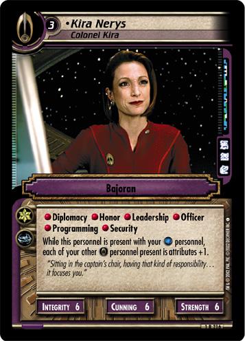 Kira Nerys, Colonel Kira