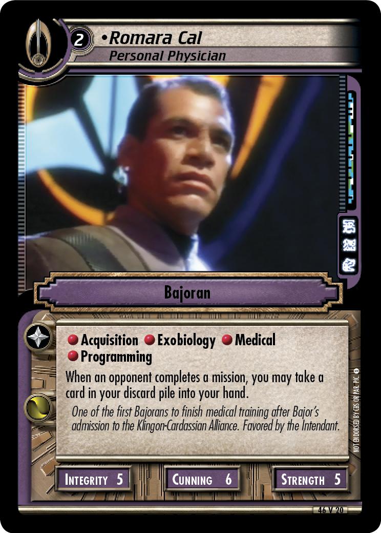 Romara Cal, Personal Physician
