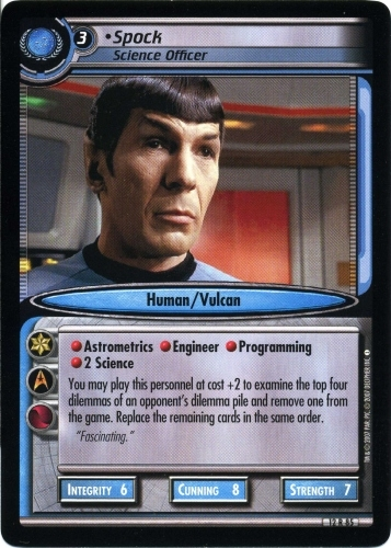 Spock, Science Officer