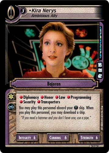 Kira Nerys, Ambitious Ally