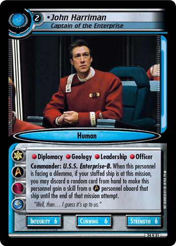 John Harriman, Captain of the Enterprise