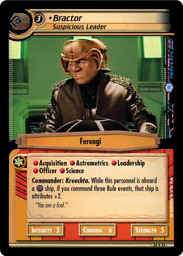 Bractor, Suspicious Leader