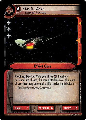 I.K.S. Vorn, Ship of Traitors