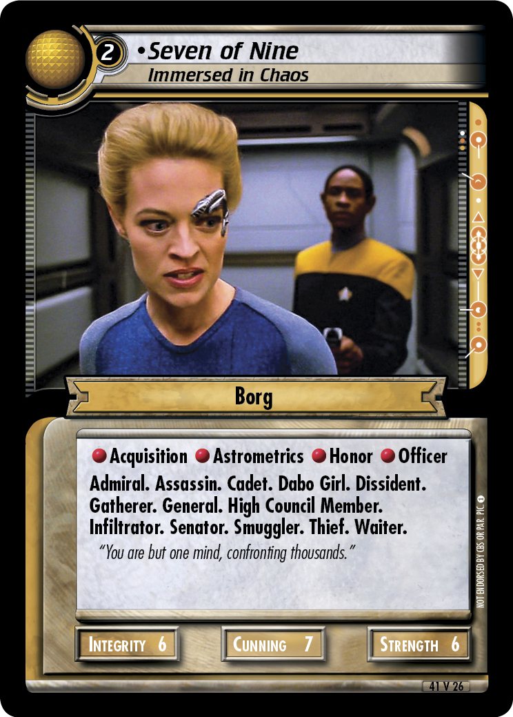 Seven of Nine, Immersed in Chaos