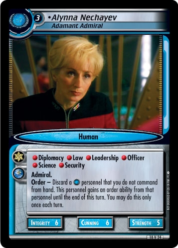 Alynna Nechayev, Adamant Admiral