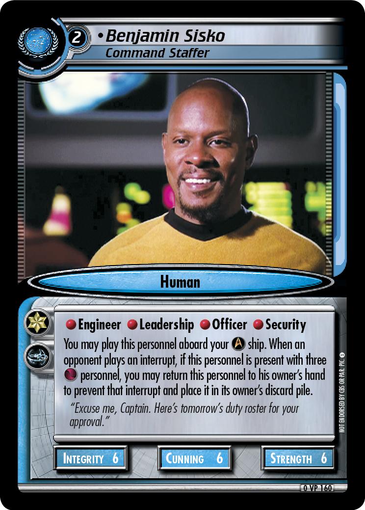Benjamin Sisko, Command Staffer