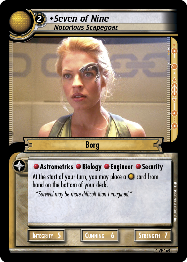Seven of Nine, Notorious Scapegoat