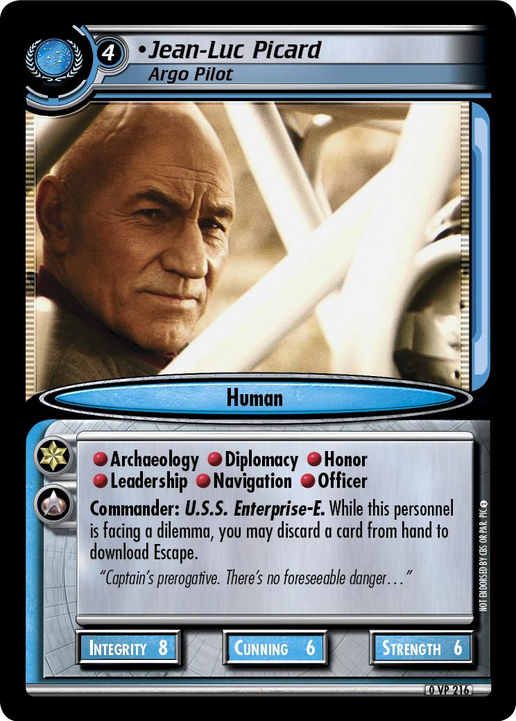 Jean-Luc Picard, Argo Pilot