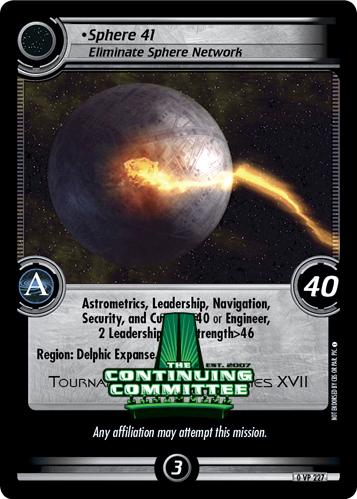 Sphere 41, Eliminate Sphere Network